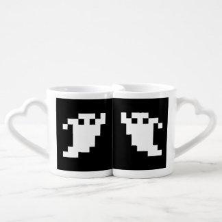8 Bit Pixel Ghost Couples' Coffee Mug Set