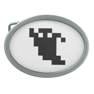 8 Bit Pixel Ghost Shadow Belt Buckle