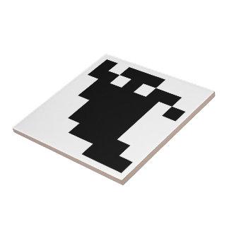 8 Bit Pixel Ghost Shadow Tile