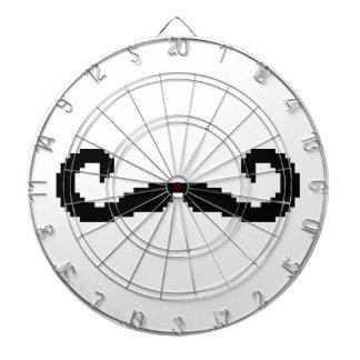 8 Bit Pixel Handlebar Moustache Dart Board