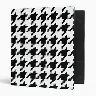 8 Bit Pixel Houndstooth Check Pattern Vinyl Binders
