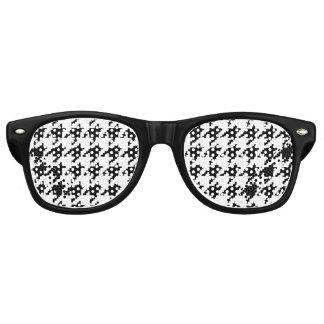 8 Bit Pixel Houndstooth Check Pattern Sunglasses