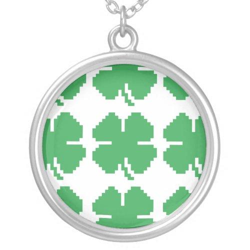 8 Bit Pixel Lucky Four Leaf Clover