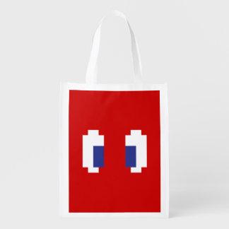8 Bit Pixel Manga Eyes Grocery Bag
