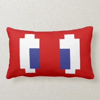 8 Bit Pixel Manga Eyes Lumbar Pillow