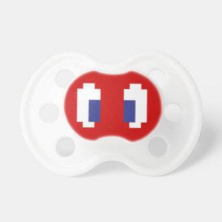 8 Bit Pixel Manga Eyes Baby Pacifiers