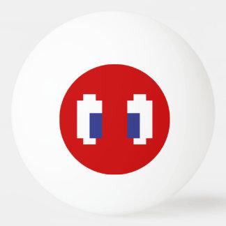 8 Bit Pixel Manga Eyes Ping-Pong Ball