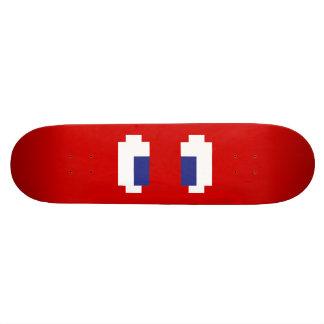 8 Bit Pixel Manga Eyes Skateboard Deck