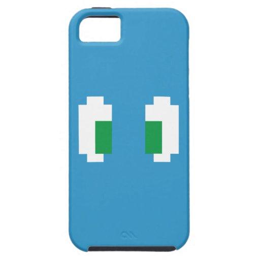 8 Bit Pixel Manga Green Eyes iPhone SE/5/5s Case