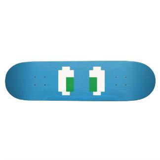8 Bit Pixel Manga Green Eyes Skateboard