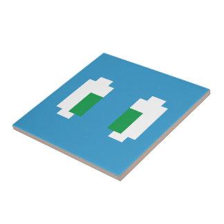8 Bit Pixel Manga Green Eyes Tile