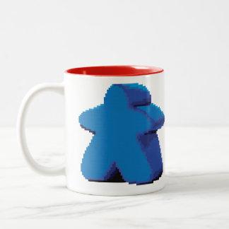 8-bit Pixel Meeple Two-Tone Mug