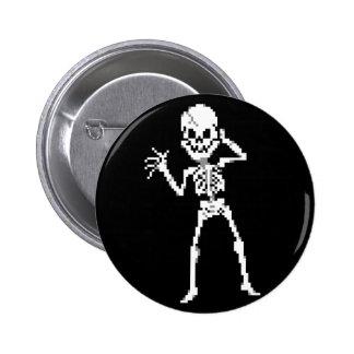 8-bit Pixel Skeleton Sprite Button