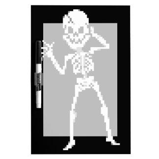 8-bit Pixel Skeleton Sprite Dry-Erase Board