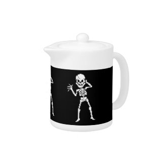 8-bit Pixel Skeleton Sprite Teapot