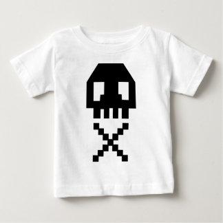 8-bit Pixel Skull Baby T-Shirt