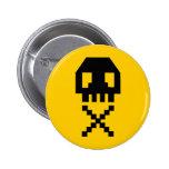 8-bit Pixel Skull Buttons