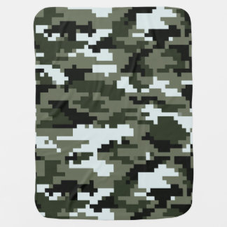 8 Bit Pixel Urban Camouflage Baby Blanket