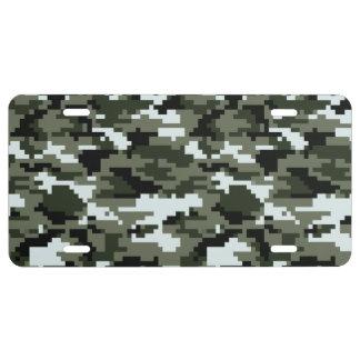 8 Bit Pixel Urban Camouflage / Camo License Plate