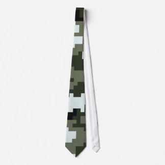 8 Bit Pixel Urban Camouflage / Camo Neck Tie