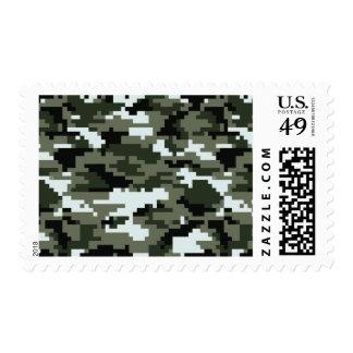 8 Bit Pixel Urban Camouflage / Camo Postage
