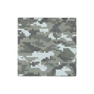 8 Bit Pixel Urban Camouflage / Camo Stone Magnet
