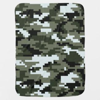 8 Bit Pixel Urban Camouflage / Camo Stroller Blanket