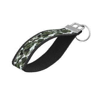 8 Bit Pixel Urban Camouflage / Camo Wrist Keychain