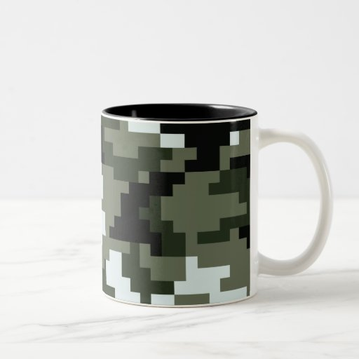 8 Bit Pixel Urban Camouflage Coffee Mugs