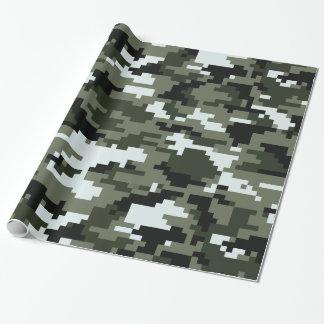 8 Bit Pixel Urban Camouflage Gift Wrap