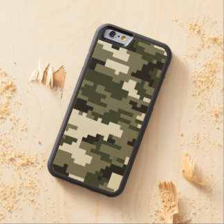 8 Bit Pixel Urban Camouflage Carved® Maple iPhone 6 Bumper Case