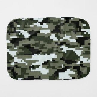 8 Bit Pixel Urban Camouflage Burp Cloths