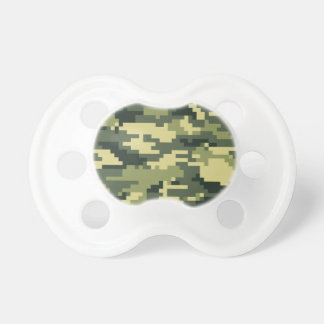 8 Bit Pixel Woodland Camouflage BooginHead Pacifier