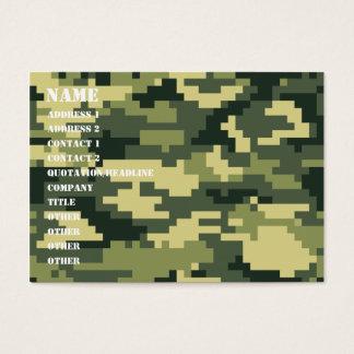 8 Bit Pixel Woodland Camouflage / Camo Business Card