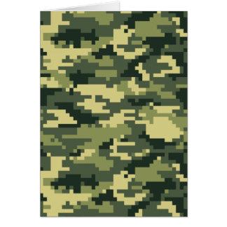 8 Bit Pixel Woodland Camouflage / Camo Card