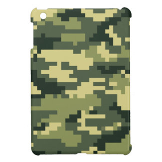 8 Bit Pixel Woodland Camouflage / Camo iPad Mini Covers