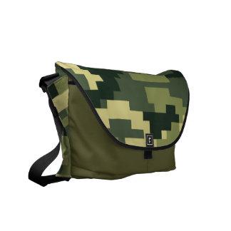 8 Bit Pixel Woodland Camouflage / Camo Messenger Bag