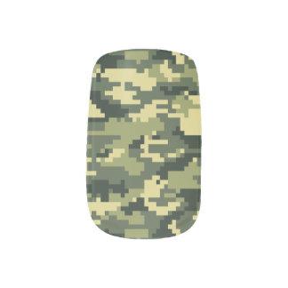8 Bit Pixel Woodland Camouflage / Camo Minx® Nail Wraps