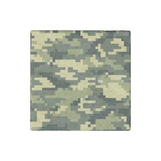 8 Bit Pixel Woodland Camouflage / Camo Stone Magnet