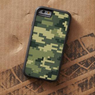 8 Bit Pixel Woodland Camouflage / Camo Tough Xtreme iPhone 6 Case