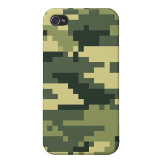 8 Bit Pixel Woodland Camouflage iPhone 4/4S Cover