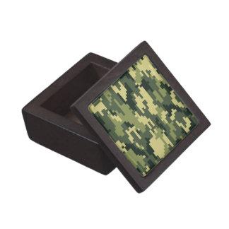 8 Bit Pixel Woodland Camouflage Keepsake Box
