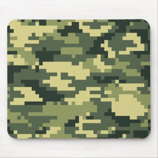 8 Bit Pixel Woodland Camouflage Mouse Pad