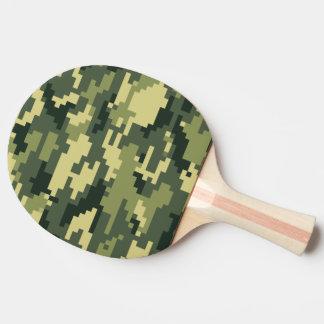 8 Bit Pixel Woodland Camouflage Ping Pong Paddle