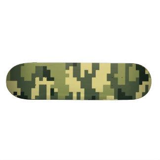 8 Bit Pixel Woodland Camouflage Skateboard