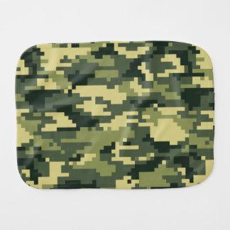 8 Bit Pixel Woodland Camouflage Baby Burp Cloths