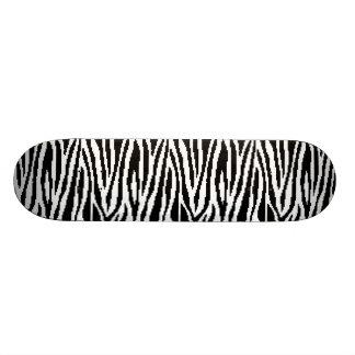 8 Bit Pixel Zebra Print Design Pattern Skateboard