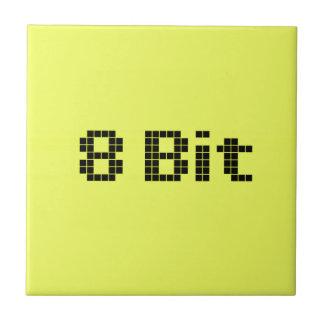 8 Bit Pixelated Yellow/Black Tile