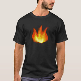 8 Bit Pixeled Fire T-Shirt