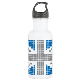 8-bit Pixels Union Jack British(UK) Flag Stainless Steel Water Bottle